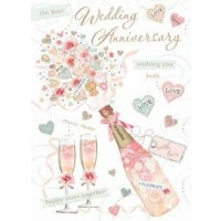 Anniversary Wishes - Congrats - Pack Of 12