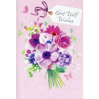 Get Well Wishes - Hope Your Feeling Brighter - Pack Of 12