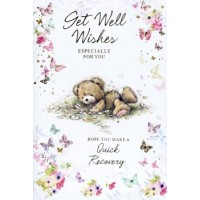 Get Well Soon - Get Well Wishes - Pack Of 12