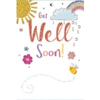 Get Well Soon - Sorry Your Feeling Under The Weather - Pack Of 12