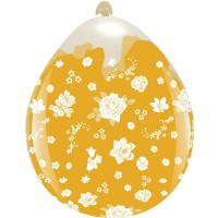 """Flowers Clear 18"""" Stuffing Balloon 10Ct"""