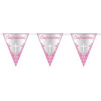 Pink Confirmation Flag Banner 9ft