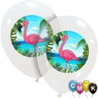 Flamingo Full Colour Superior Latex Balloons 25Ct