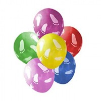 """Superior 5"""" Assorted Colour Baby Feet Latex 100ct"""