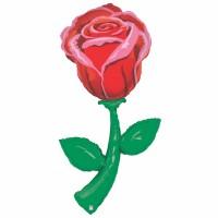 """Fresh Picks Single Rose 60"""" Foil Balloon"""