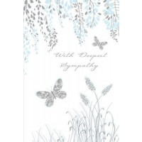 With Deepest Sympathy - Many Hearts Go Out To You In Sympathy - Pack Of 12
