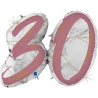 "Marble Mate 30 Rose Gold 43"" Single Foil Balloon GRABO"