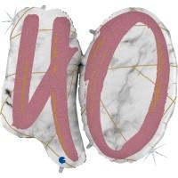 "Marble Mate 40 Rose Gold 40"" Single Foil Balloon GRABO"