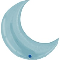 "Moon Pastel Blue - 38"" Foil Balloon"