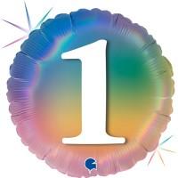 """1 Colourful Rainbow 18"""" Foil Balloon"""