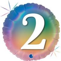 """2 Colourful Rainbow 18"""" Foil Balloon"""