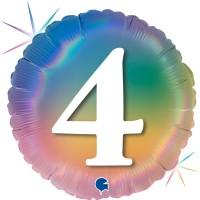 """4 Colourful Rainbow 18"""" Foil Balloon"""