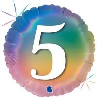 """5 Colourful Rainbow 18"""" Foil Balloon"""