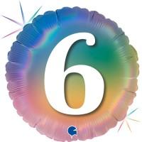 """6 Colourful Rainbow 18"""" Foil Balloon"""