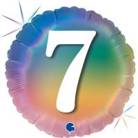 """7 Colourful Rainbow 18"""" Foil Balloon"""