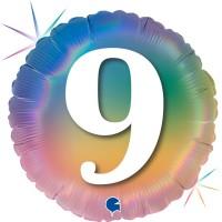 """9 Colourful Rainbow 18"""" Foil Balloon"""