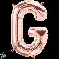 "Rose Gold Air Filled 16"" Letter G Foil Balloon"