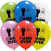"""Game Over 12"""" Colourful Latex Balloons 12Ct"""