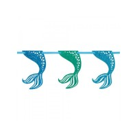 Mermaid Glitter Garland Decoration 9Ft