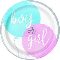 """Gender Reveal Party 9"""" Plates 8ct"""