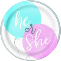 """Gender Reveal Party 7"""" Plates 8ct"""