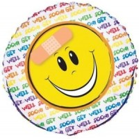 "Get Well Soon Emoji 18"" Foil Balloon"