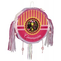 Communion - Pink Drum Pull Pop-Out Piñata