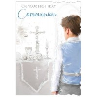 Communion Day (Boy) - Best Wishes - Pack Of 12
