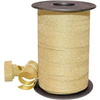 Gold Glitter 5mm Curling Ribbon Franco Perro 150m