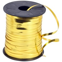 Gold Metallic Curling Ribbon 250yds x 3/16""