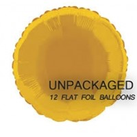 Gold - Round Shape 18'' (Pack of 12, Flat)