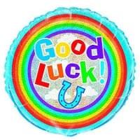 "Good Luck 18 "" Prismatic Foil Balloon"