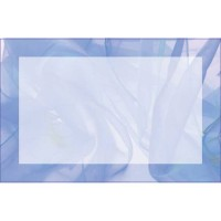 Blue Chiffon Border (No Message) (Pack of 50)