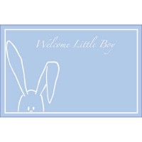 Welcome Little Boy Peekaboo Bunny Blue (Pack of 50)