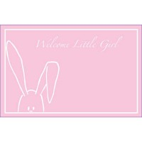 Welcome Little Girl Peekaboo Bunny Pink (Pack of 50)