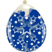"Gradient Stars 18""  Clear Stuffing Balloon 10ct"