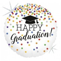 "Happy Graduation Dots 18"" Foil Balloon"