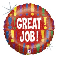 "Great Job 18"" Foil Balloon"
