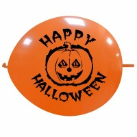 "Halloween 12"" Linking Latex Balloons Printed 1 Side"
