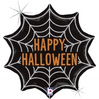 """Halloween Spider Web Holographic 18"""" Foil Balloon"""