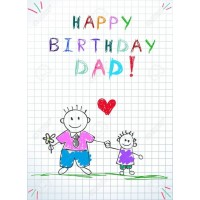 Happy Birthday Dad Pack of 12