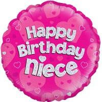 "Happy Birthday Niece 18"" Foil Balloon"