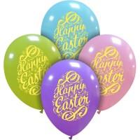 "Happy Easter Eggs Pastel 12"" Latex Balloons"