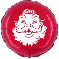 "Happy Santa 18"" Foil Balloon UNPACKAGED"