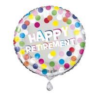 """Colourful Dots Retirement 18"""" Foil Balloon"""