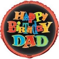 "Happy Birthday Dad 18"" Foil Balloon"