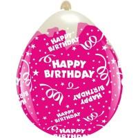 "Happy Birthday Clear 18"" Stuffing Balloon 10Ct"