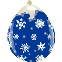 "Snowflakes 18"" Clear Stuffing Balloon 10Ct"