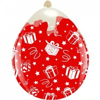 """Christmas Presents 18"""" Clear Stuffing Balloon 10Ct"""