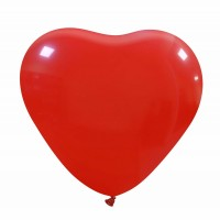 "Dark Red Superior Heart 10"" Latex Balloon 50Ct"